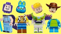 WRONG HEADS- Toy Story 4 Lego Mix n Match with Forky, Woody, Buzz - Bunny