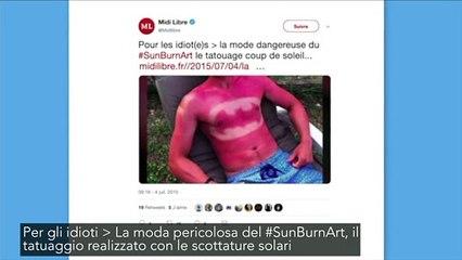 La follia dell'estate: il tatuaggio realizzato con le scottature solari 3699