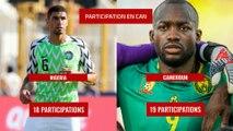 8e de finale de la CAN 2019 : Nigeria - Cameroun en chiffres