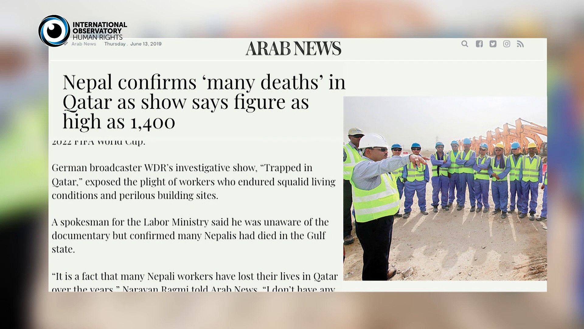 Trapped in Qatar: Hundreds of migrant workers die in Qatar in the Construction Industry