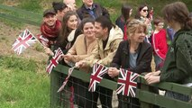 Beaming Queen delighted by animals at Scotland farm