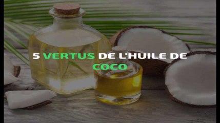 5 vertus de l'huile de coco