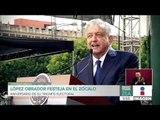 Así fue el festejo de AMLO en el Zócalo a un año del triunfo electoral   Noticias con Paco Zea