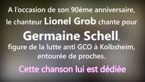 DNA - Lionel Grob chante pour Germaine Schell, 90 ans, militante anti-GCO de Kolbsheim