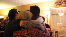 Soldier Surprises Entire Family Mid Way of Taking a Group Photo