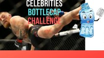 CELEBRITY BOTTLE CAP CHALLENGE COMPILATION!!!!(CONOR MCGREGOR AND JON JONES BOTTLE CAP KICKS?)