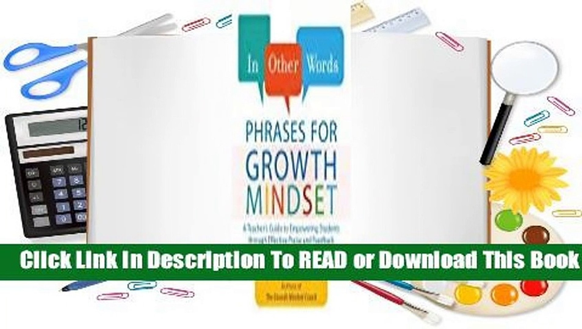 Online In Other Words: Phrases for Growth Mindset: A Teacher's Guide to Empowering Students