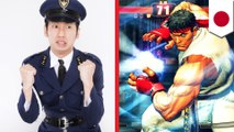 Street Fighter ads to recruitcyber police in Japan