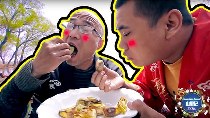 【MountainsRecord】徒弟套路师傅拿出偷藏的香蕉,香蕉炒猕猴桃,一人一口真好吃!