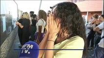 La joie des lycéens à Marseille qui viennent de décrocher leur bac