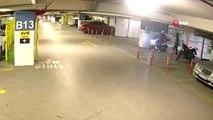 Ataşehir'de alışveriş merkezinin otoparkında motosiklet hırsızlığı kamerada