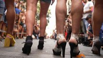 Annual high heels race takes place in Madrid