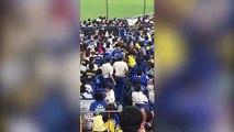 Quand un fan de baseball se sert de son fils pour taper sur les supporters adverses !