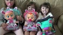 Sophia Isabella e Alice Brincando de Baby Cry - bebês
