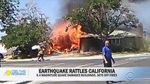 Les images spectaculaires du tremblement de terre le plus violent depuis 20 ans qui a secoué la Californie hier