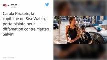 Carola Rackete, capitaine du Sea-Watch, porte plainte contre Matteo Salvini