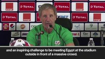 """(Subtitled) """"An inspiring challenge,"""" says South Africa coach ahead of meeting favourites Egypt"""