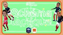 Eugénie LE SOMMER Sarah BOUHADDI Schéma tactique ✍️ Team Orange Football #TeamOrange
