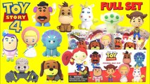 Disney Pixar FULL Box TOY STORY 4 Keychains with Forky, Woody, Bo Peep