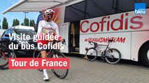 Tour de France : visite guidée du bus Cofidis