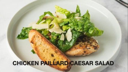 Grilled chicken paillard Caesar salad