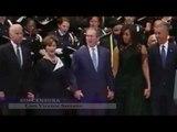George Bush baila y ríe durante el funeral de los policías muertos en Dallas