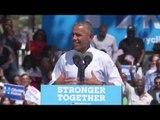 Obama sale al ruedo por Hillary Clinton en Filadelfia