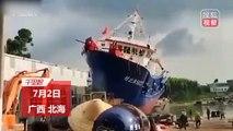 Quand la mise à l'eau d'un gros bateau foire complètement !