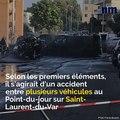 Spectaculaire feu de voitures à Saint-Laurent-du-Var