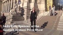 Royal Lady Kitty Spencer At Paris Fashion Week