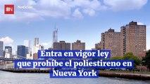 Entra en vigor ley que prohíbe el poliestireno en Nueva York
