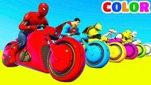 Comptines Bébé - Dessin animé francais, Motos Colorées et Voitures Vidéo pour Enfants