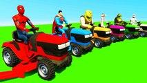 Dessins Animés Tracteur pour Enfants - Voitures Colorées avec Comptines Bébé