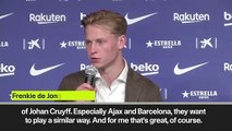 (Subtitled) De Jong on Messi and Cryuff philosophy after joining Barcelona