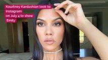 Kourtney Kardashian Supports Emily Ratajkowski By Rocking the Sexiest Red Bikini, Like, Ever