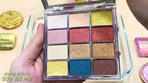 GOLD vs PINK ! Mixing Makeup Eyeshadow into Clear Slime ! Special Series #62 Satisfying Slime s
