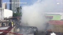 Fire engulfs houses in Brgy. Olympia, Makati City