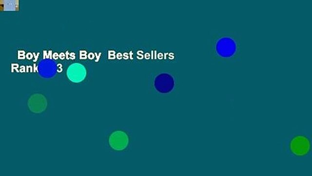 Boy Meets Boy  Best Sellers Rank : #3