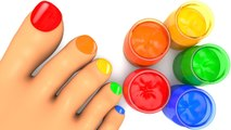 Learn Colors with Body Paint Finger Family Song for Kid Children