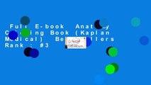 Full E-book  Anatomy Coloring Book (Kaplan Medical)  Best Sellers Rank : #3