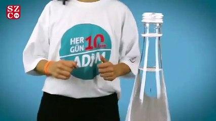 Sağlık Bakanlığı'ndan farklı mesajı ile Bottle Cap Challange