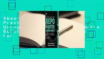 About For Books  A Practical Guide to Using Repo Master Agreements: Existing Market Practice for