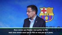 """Barça - Bartomeu: """"Nous savons que Neymar veut quitter le PSG"""""""