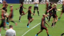 The Netherlands hold their last training session before the WWC final against the USA