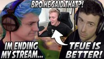 Ninja Gets UPSET & ENDS Stream After DrLupo Tells Him TFUE Is Better! Tfue REACTS!