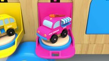 Learn Colors with Wooden Truck Toy and Street Vehicles Toys - Colors and Shapes Collection