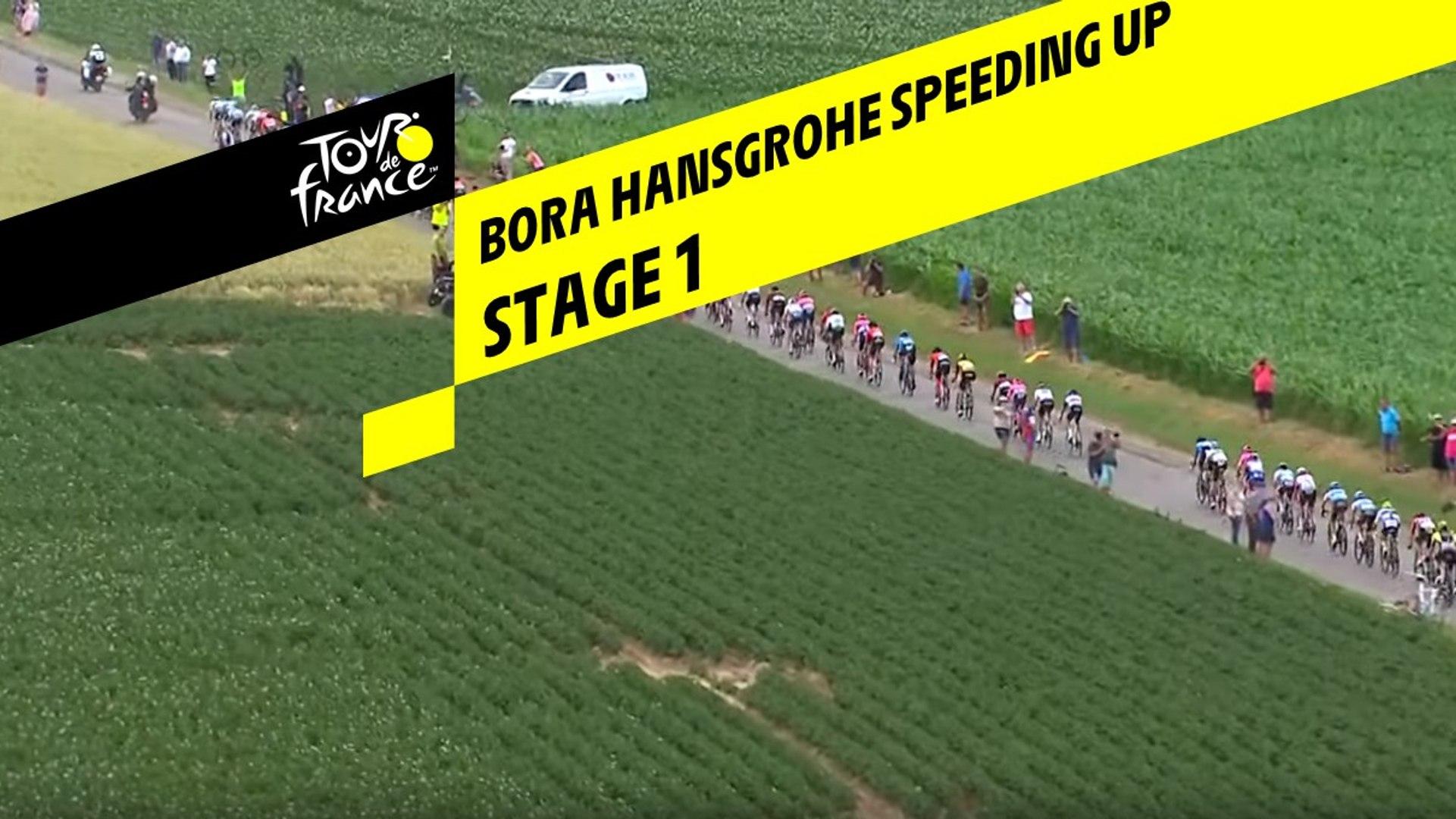 Bora Hansgrohe accélère / Bora Hansgrohe speeding up - Etape 1 / Stage 1 - Tour de France 2019