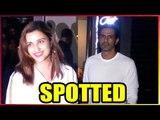 B-Town actors Parineeti Shopra and Arjun Rampal at an eatery in Bandra