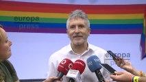 """Marlaska reitera el """"compromiso"""" del Gobierno con los derechos LGTBI."""
