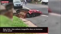 États-Unis : Une voiture s'engouffre dans un immense nid-de-poule (vidéo)